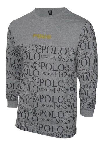 camiseta manga longa since 1982 polo
