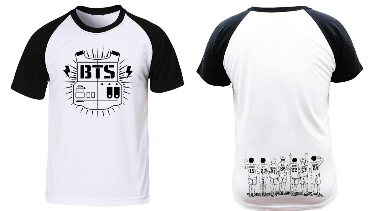 7071ebbc1 camiseta manga preta raglan música kpop bangtan boys bts jim. Carregando  zoom.