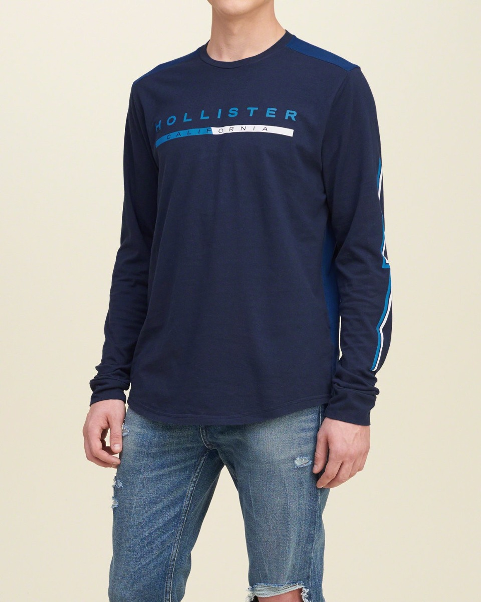 41dd9c41f3 camiseta mangalonga hollister azul marinho m novo original. Carregando zoom.