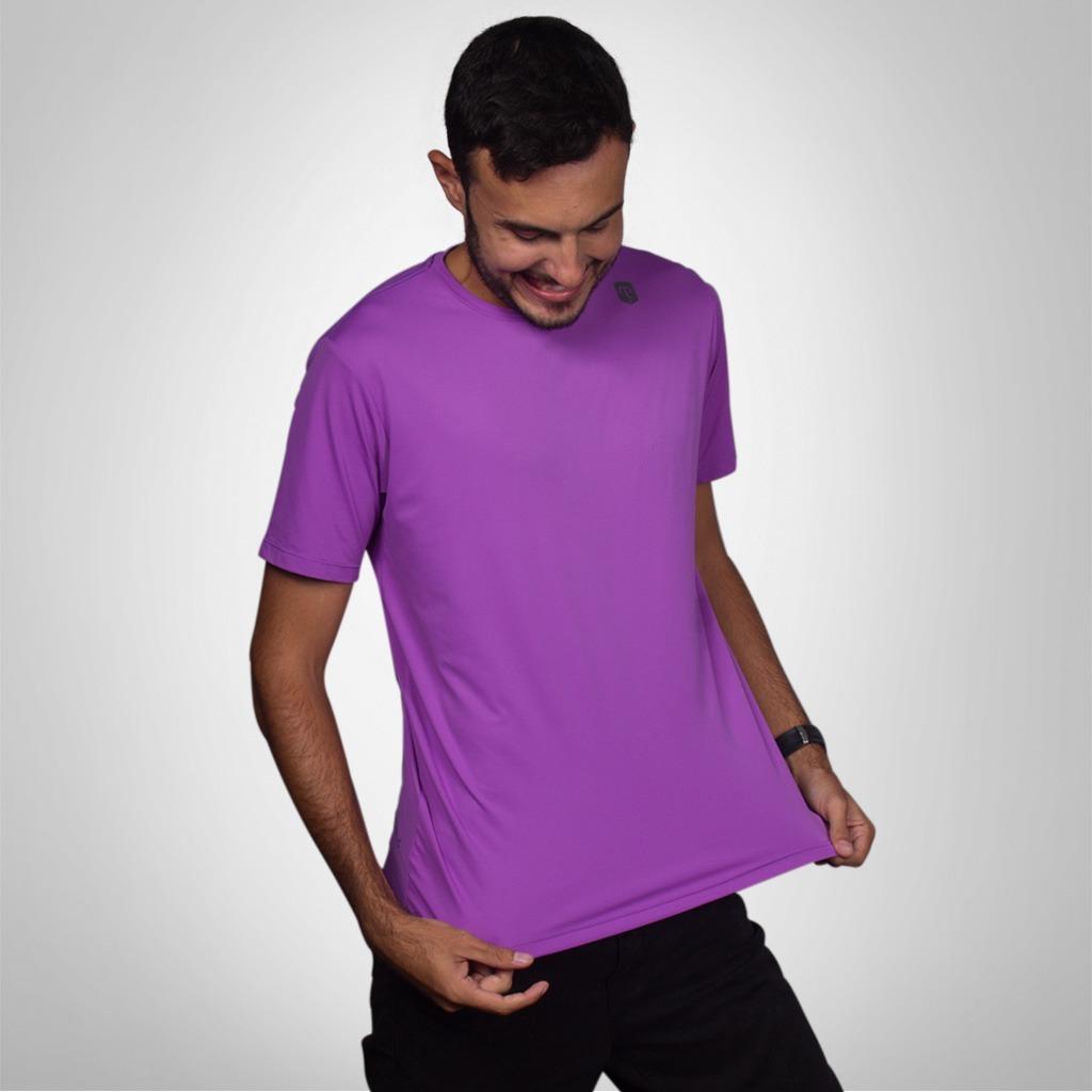 dbaff698ef9a7 camiseta mantle poliamida roxa masculina com proteção uv. Carregando zoom.