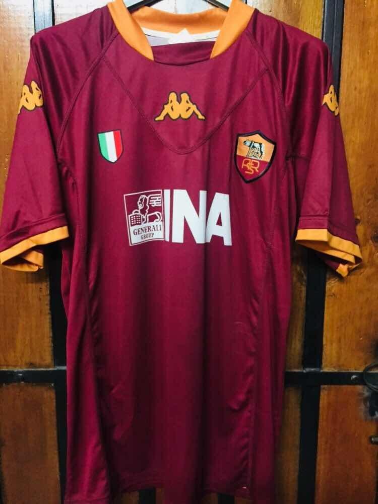 camiseta marca kappa de la roma de italia talla l totti. Cargando zoom. 3f1ee03ae5719