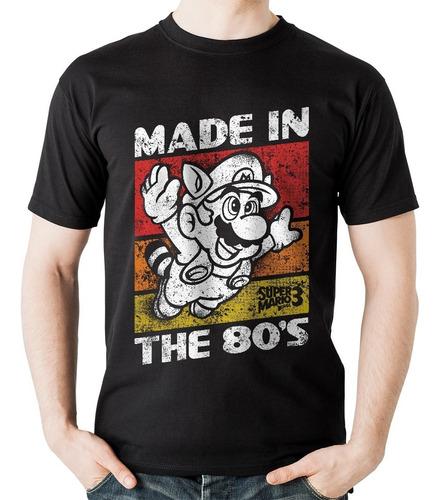 camiseta mario bros old school rock activity