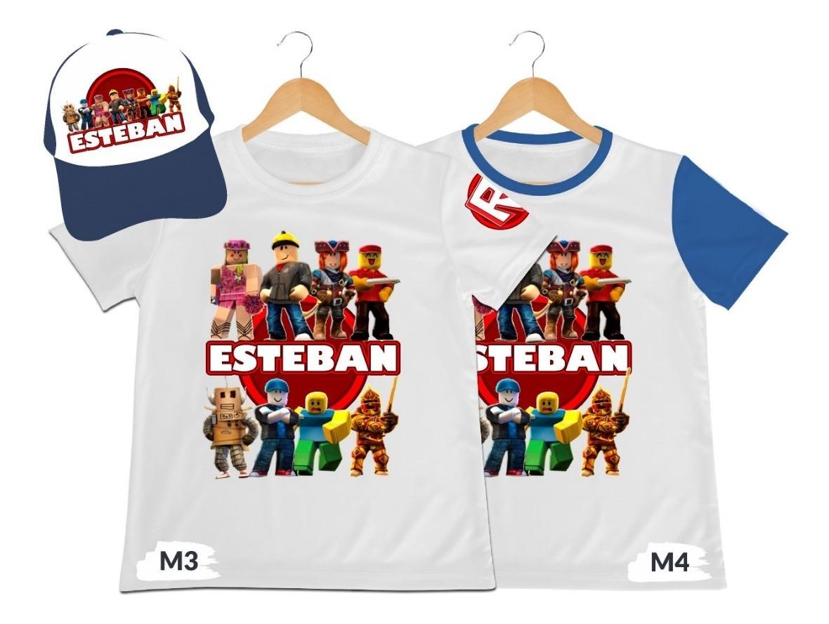 Camiseta Mas Gorra Nino Roblox Personalizada Algodon 39 900 En