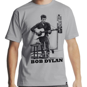 Camiseta Masculina - Camiseta Bob Dylan Folk
