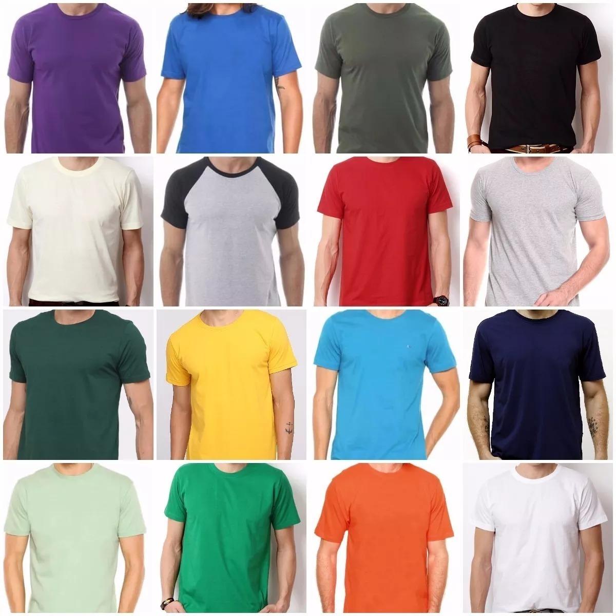camiseta masculina algodão básica camisa atacado camisa lisa. Carregando  zoom. 0e64851935e