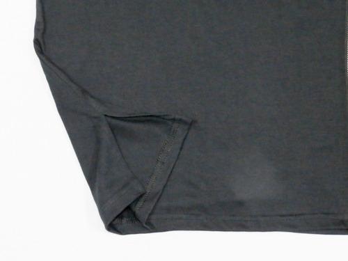 camiseta masculina alongada com aberturas e zípers premium