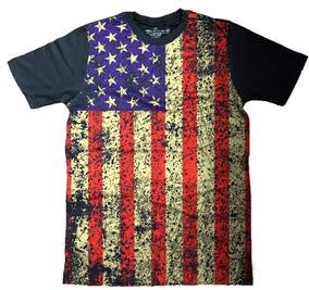 23007ec8fb Camiseta Bandeira Americana Masculina - Calçados