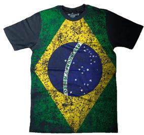 2eb37f4fdc Camiseta Masculina Bandeira Do Brasil Style John John Camisa