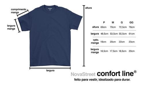 camiseta masculina básica algodão premium modelo exclusivo