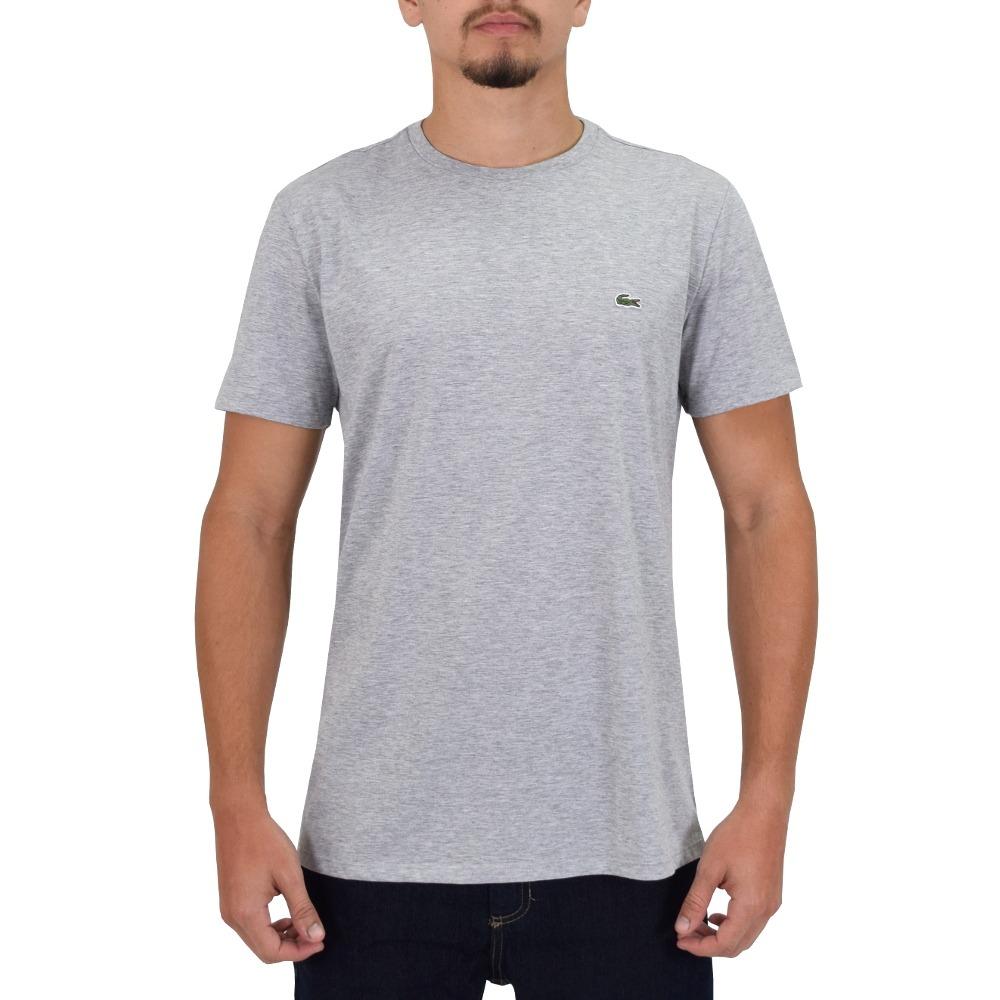 03670d691e4b3 camiseta masculina básica cinza - lacoste. Carregando zoom.