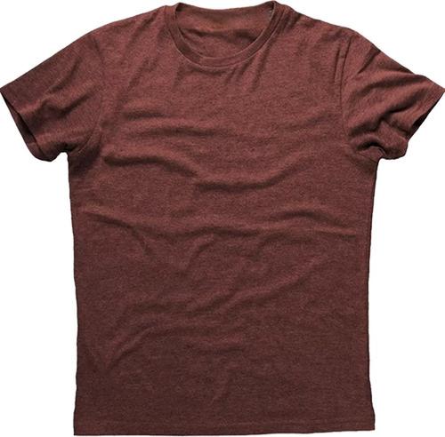 camiseta masculina básica de 100% algodão tecido 1a linha
