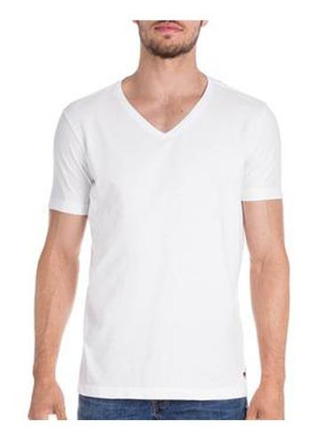 camiseta masculina basica gola v algodão pronta entrega