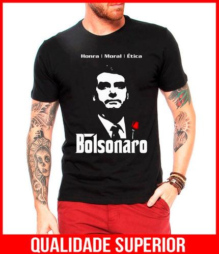 camiseta masculina bolsonaro poderoso chefão