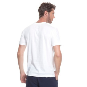 fd1b7d28e7 Camiseta Masculina Branca Algodão Gola V - 12pçs