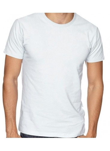 camiseta masculina branca gola redonda uso diário