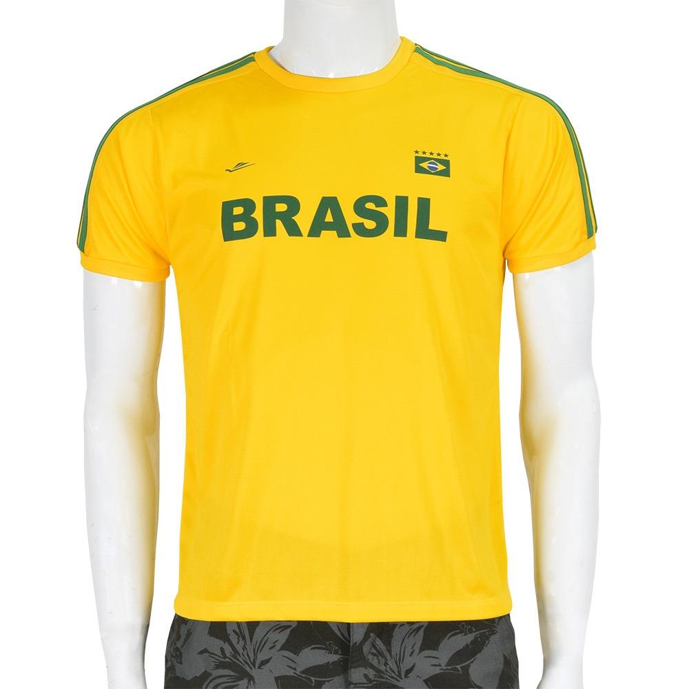 camiseta masculina brasil dryline - negrito - elite. Carregando zoom. f663a132cc1