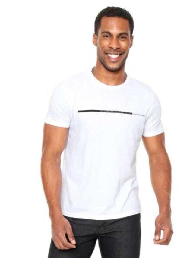 93f753237b camiseta masculina calvin klein jeans go for branca. Carregando zoom.