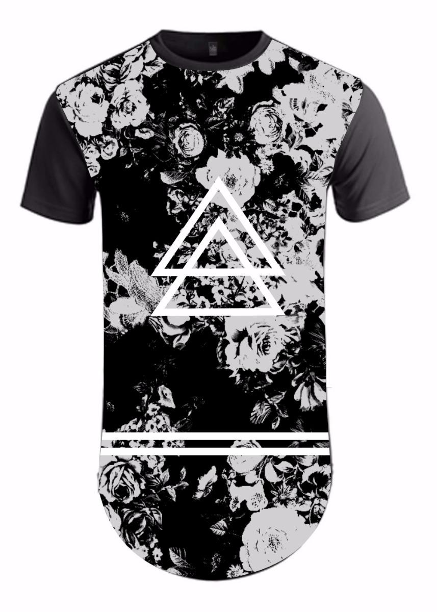 c87cc24bf camiseta masculina camisa long line oversid swag floral. Carregando zoom.