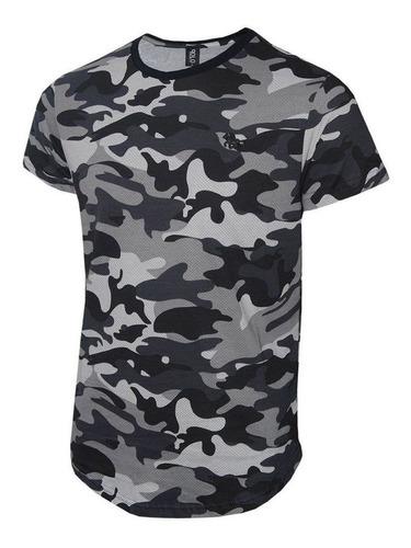 camiseta masculina camuflada original polo rg518