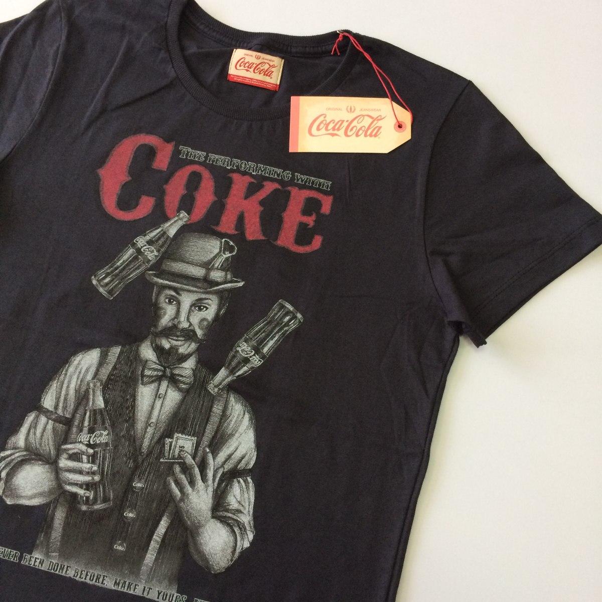 dff7c2b690 Camiseta Masculina Coca Cola Jeans Original Verão 2018 50056 - R ...