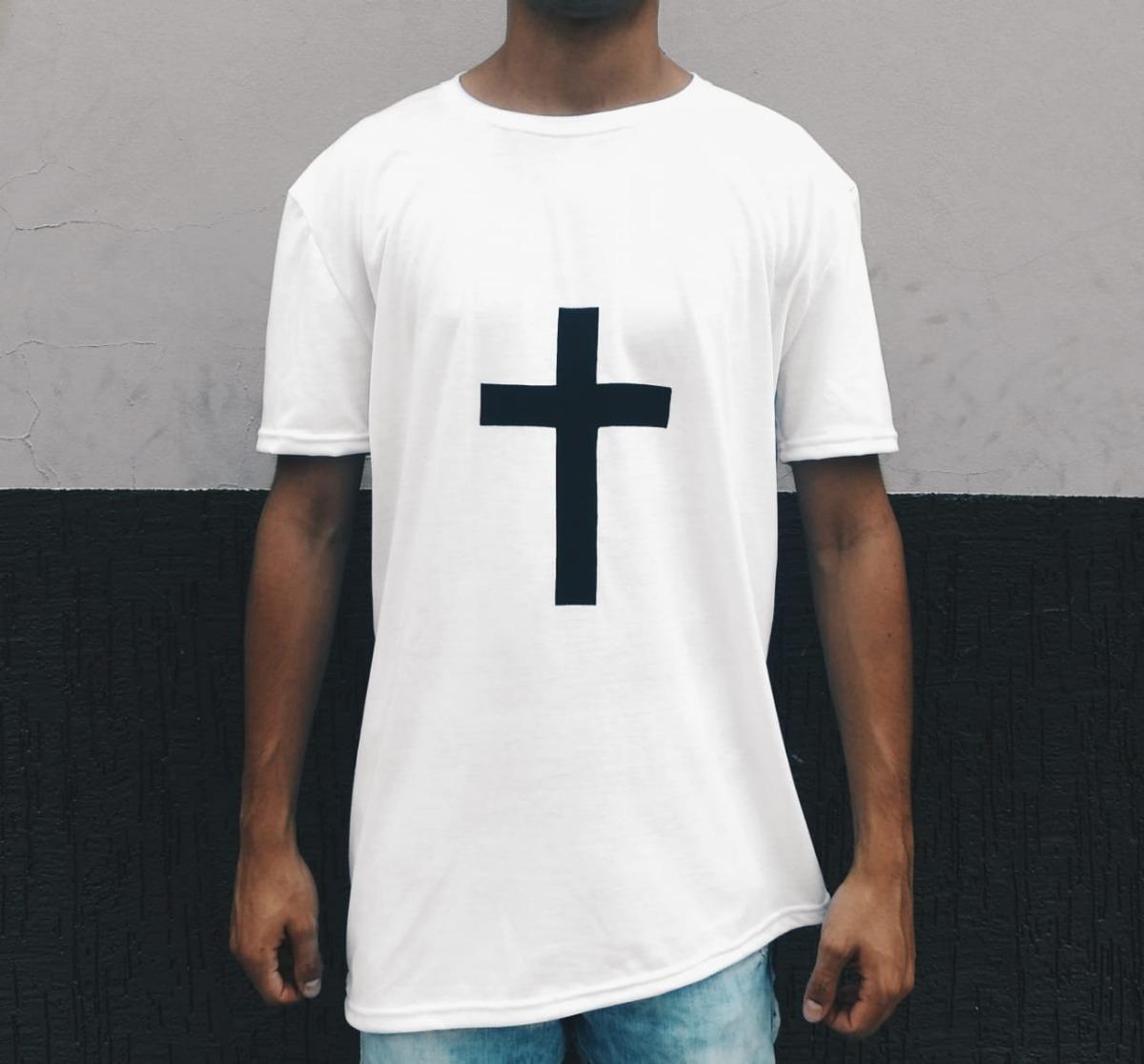 728e28890 camiseta masculina com cruz camisa blusa oversized longline. Carregando zoom .