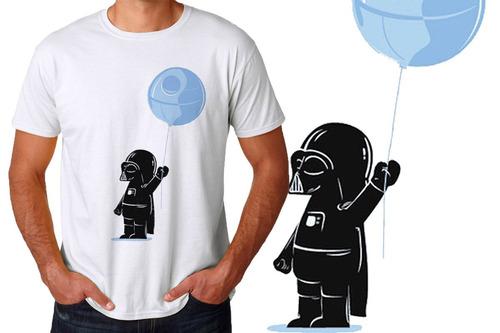 camiseta masculina darth vader só queria amigos