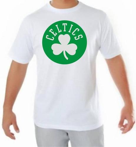 camiseta masculina de manga curta celtics