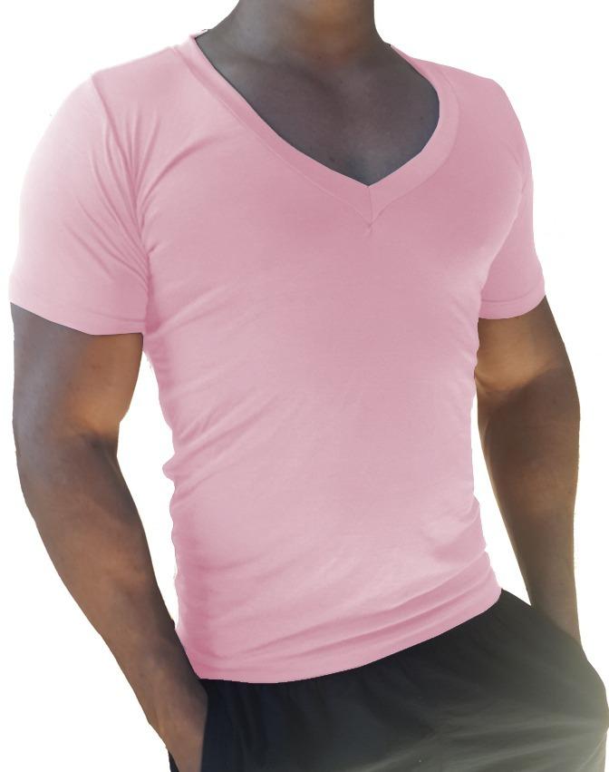 b61544c8ef camiseta masculina decote em v segunda pele slim fit. Carregando zoom.