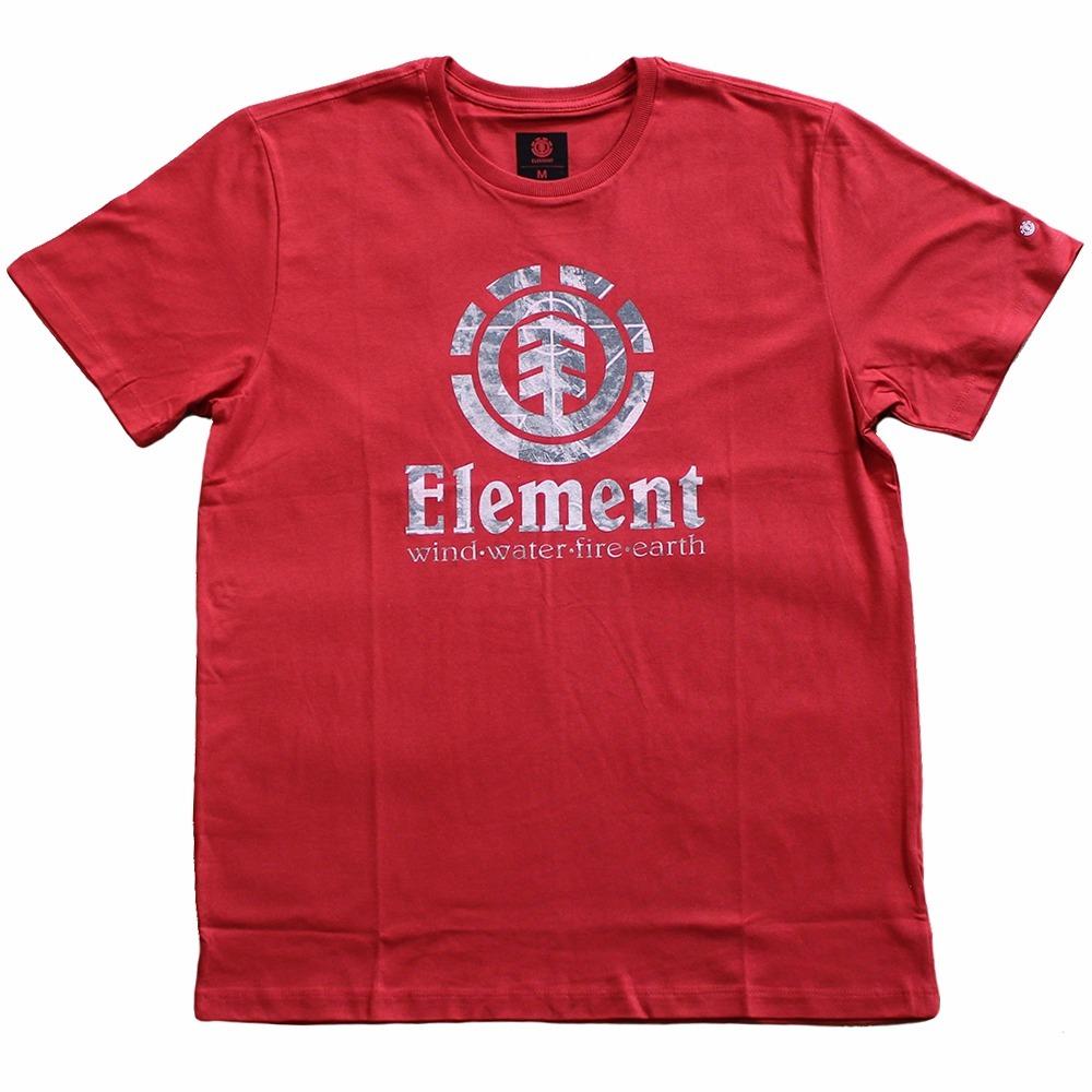 camiseta masculina element skate fragment vermelha original. Carregando  zoom. ae9bffa83ac