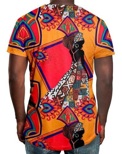 camiseta masculina estampa africana estampa digital