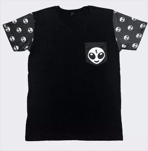 e4c2930961 Camiseta Masculina Estampa Na Manga Estilo Psico Et Skrillex - R  45 ...
