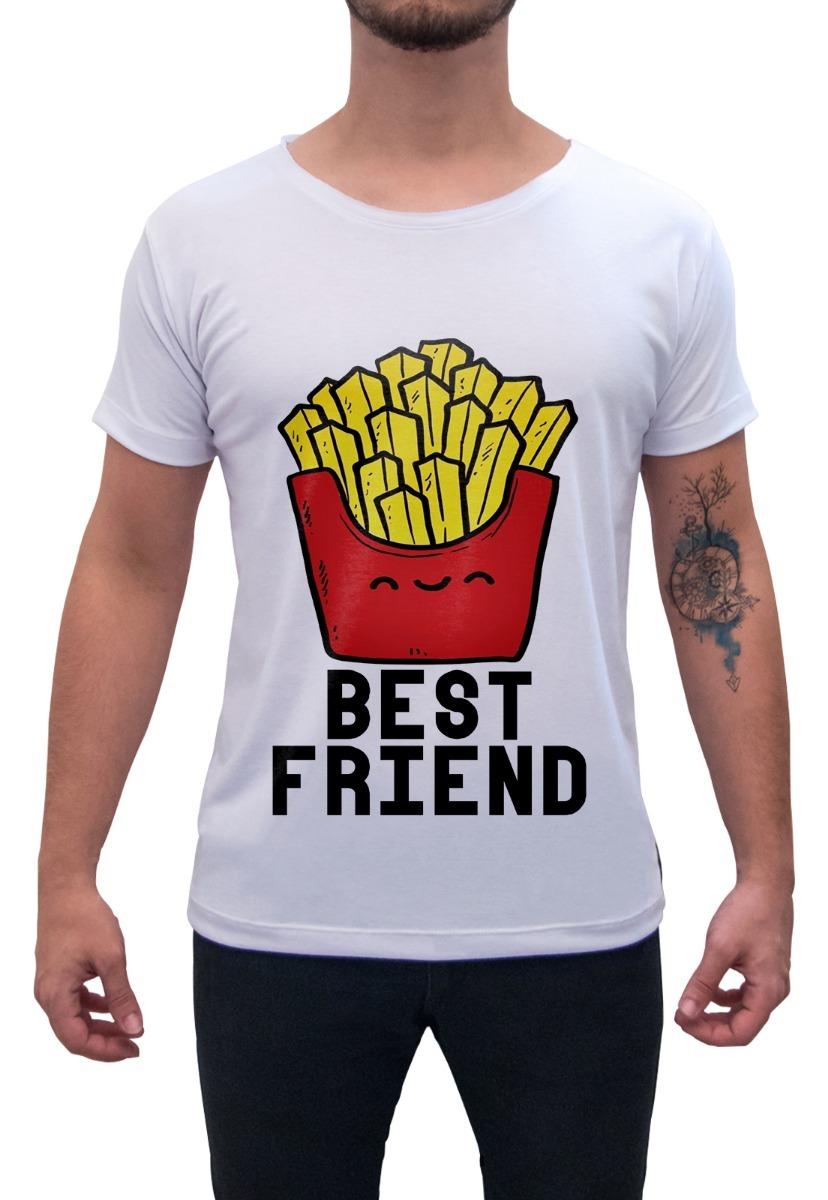 6182b8c62 Camiseta Masculina Estampada Batata Frita Best Friend - R  39