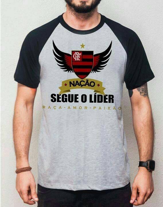 25fdd4c93c Camiseta Masculina Flamengo - Segue O Líder - R$ 42,45 em Mercado Livre