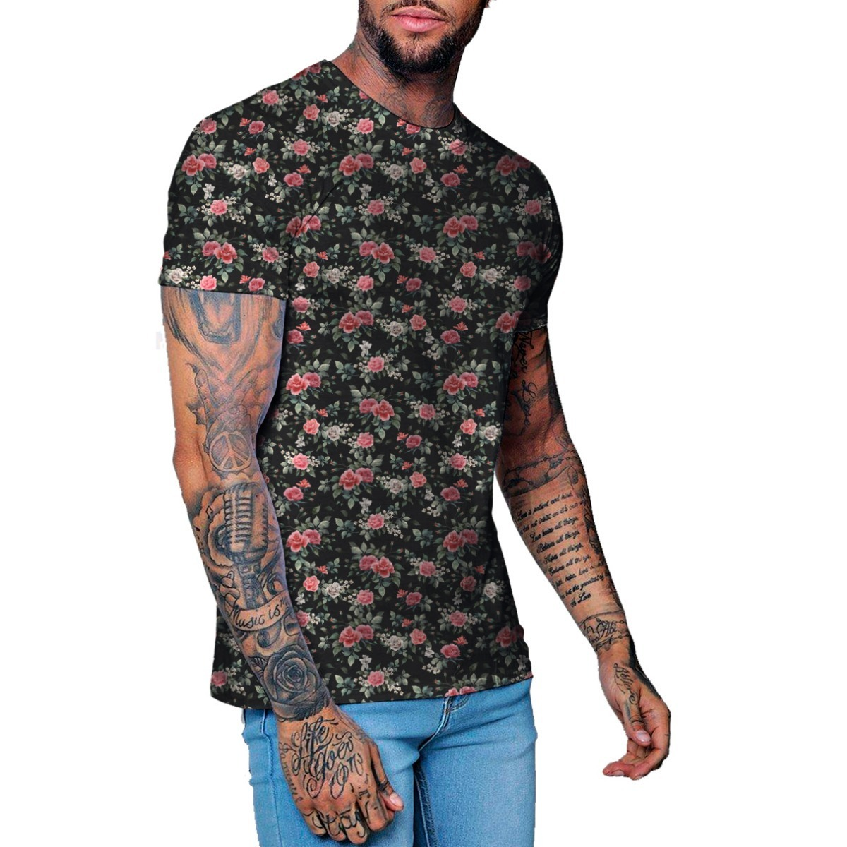 08f0a7b604 camiseta masculina florida estampada vintage floral flor 635. Carregando  zoom.