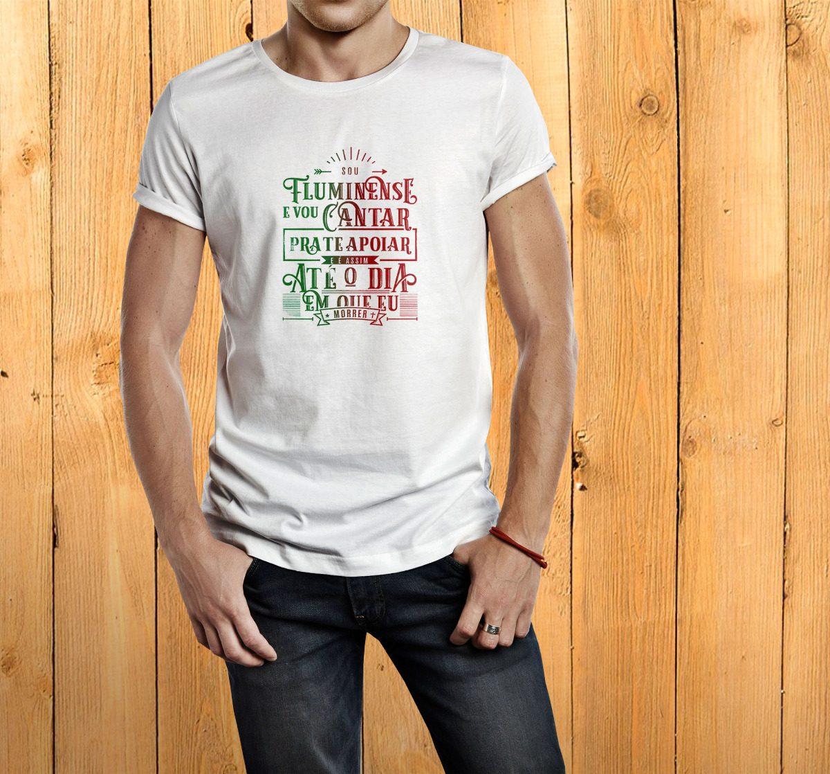 camiseta masculina fluminense tricolor social. Carregando zoom. 6492a2e6adb1c