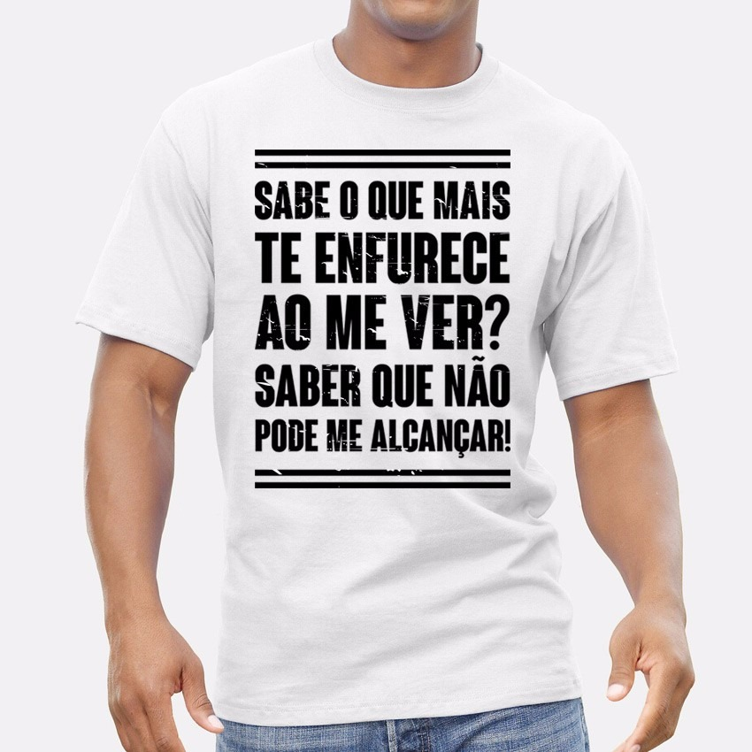 ab1592dbd camiseta masculina frase - camisa branca. Carregando zoom.