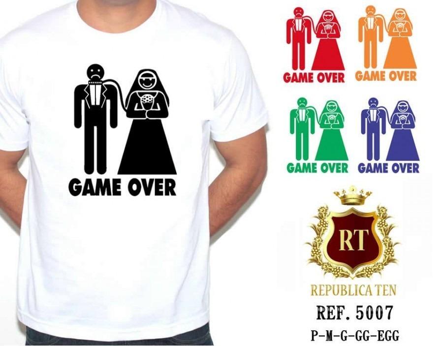 ee3695b8a camiseta masculina game over - casamento - frases divertidas. Carregando  zoom.