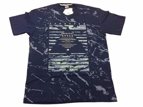 camiseta masculina gangster tamanhos grandes g1 - 50731