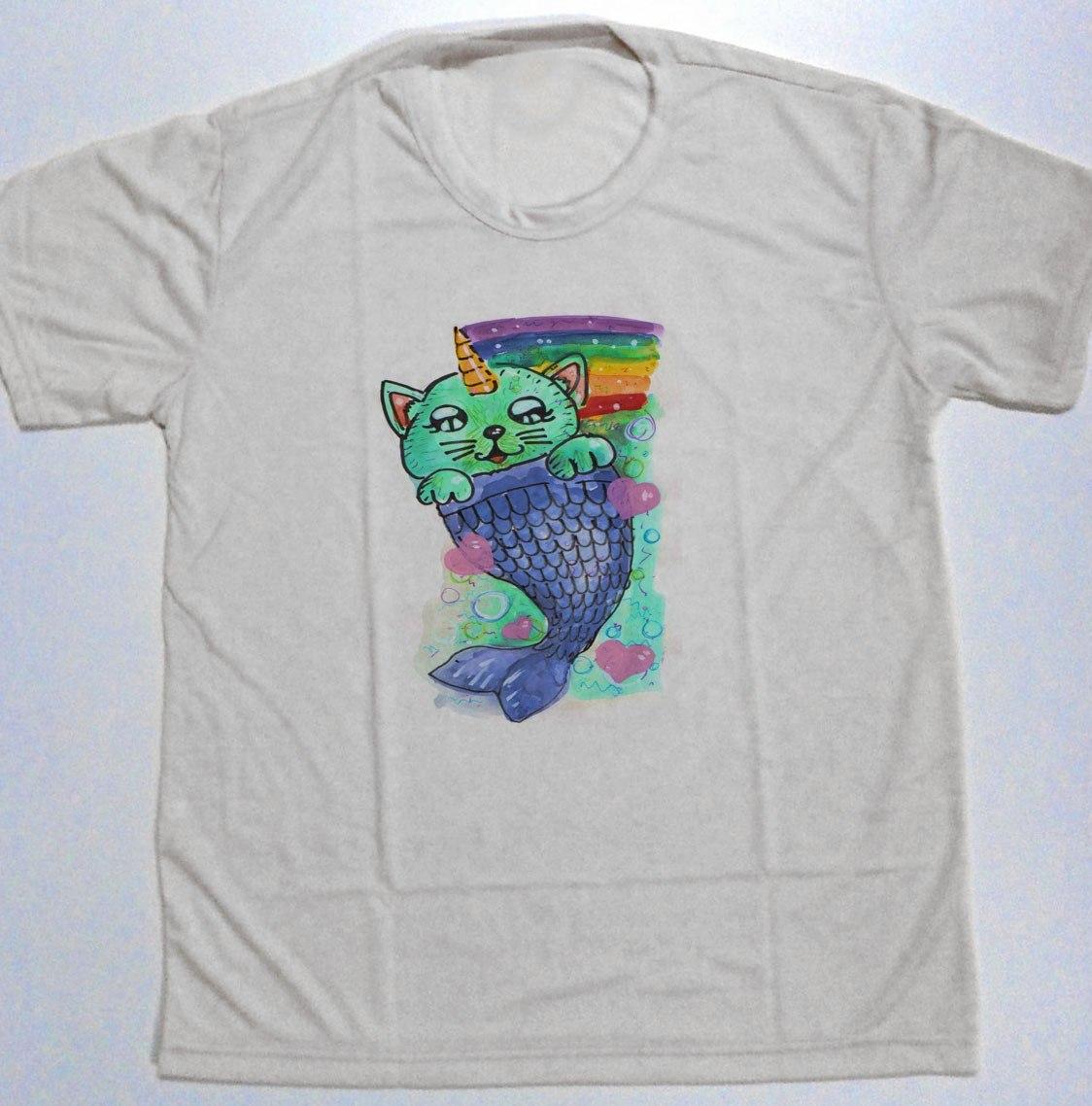 283ee91a6 camiseta masculina gato unicornio sereia arco-iris lgbt et. Carregando zoom.