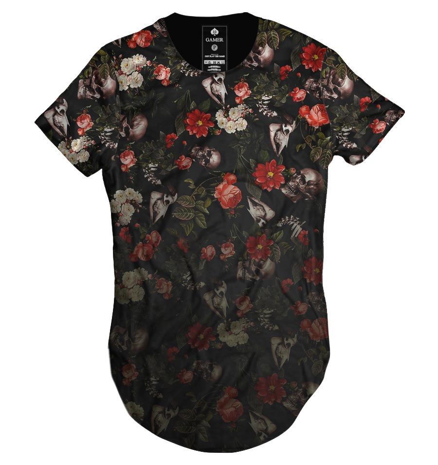 Go For Oversized Florals: Camiseta Masculina Gola Canoa Longline Oversized Floral