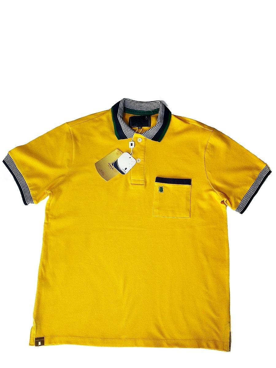 camiseta masculina gola polo amarela promoção - mpollo. Carregando zoom. cb0d3c4c6ae66