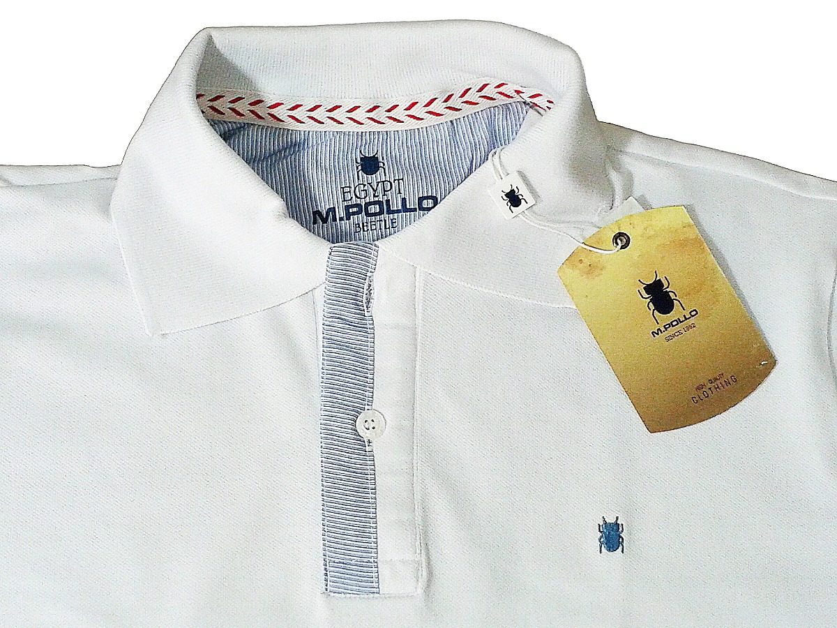 camiseta masculina gola polo branca - mpollo. Carregando zoom. ac9db4fb626e1