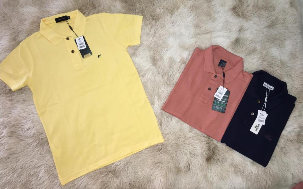 94b707eeebd34 Camiseta Masculina Gola Polo Varias Marcas - R  50