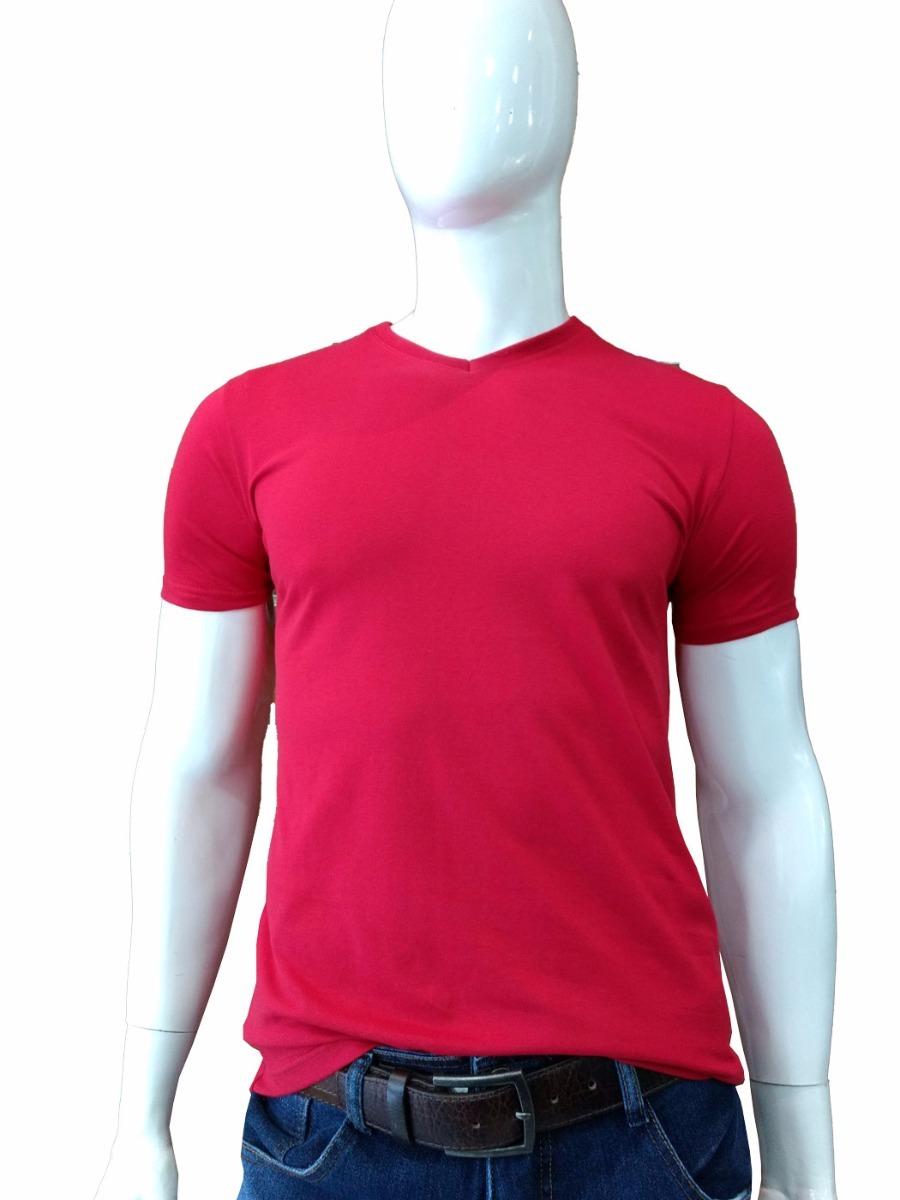 camiseta masculina gola v lisa básica malwee - vermelho. Carregando zoom. ad17d5a5792