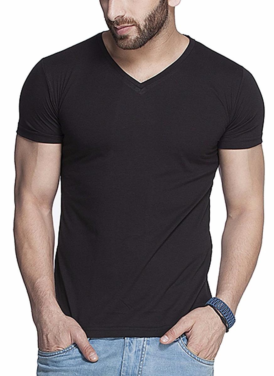92da925c4d camiseta masculina gola v preta branca cinza lisa algodao. Carregando zoom.