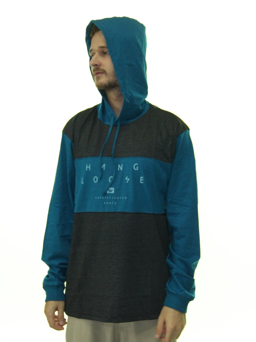 camiseta masculina hang loose thunder manga longa com touca. Carregando  zoom. 1b075049b6c