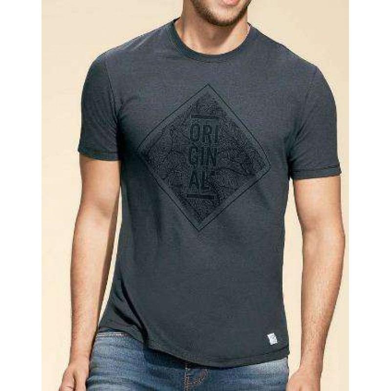cc204926d camiseta masculina hering 4eba - cinza - delabela calçados. Carregando zoom.