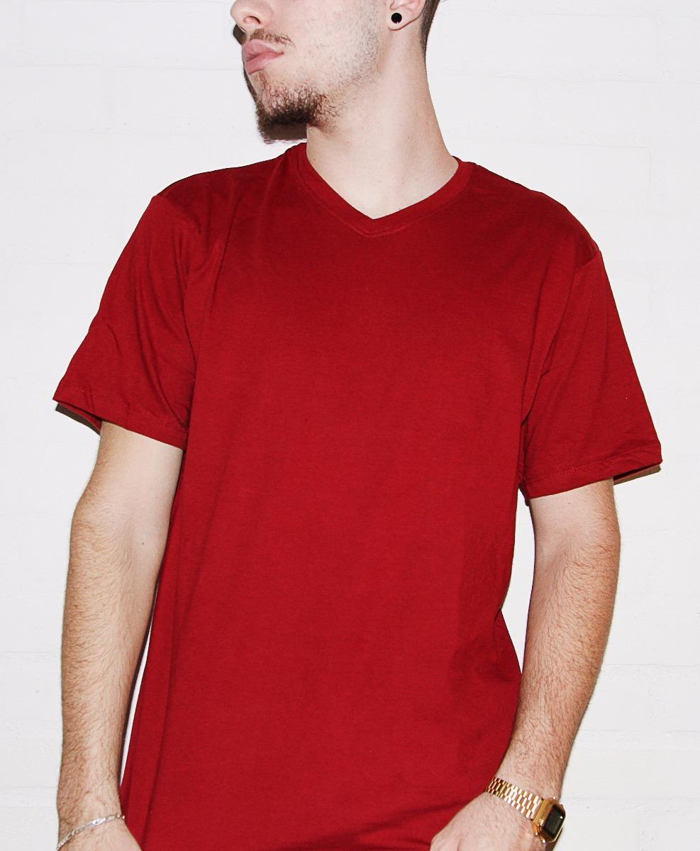 7b3d035c2b camiseta masculina hering decote v cor vermelha ( 022b ). Carregando zoom.