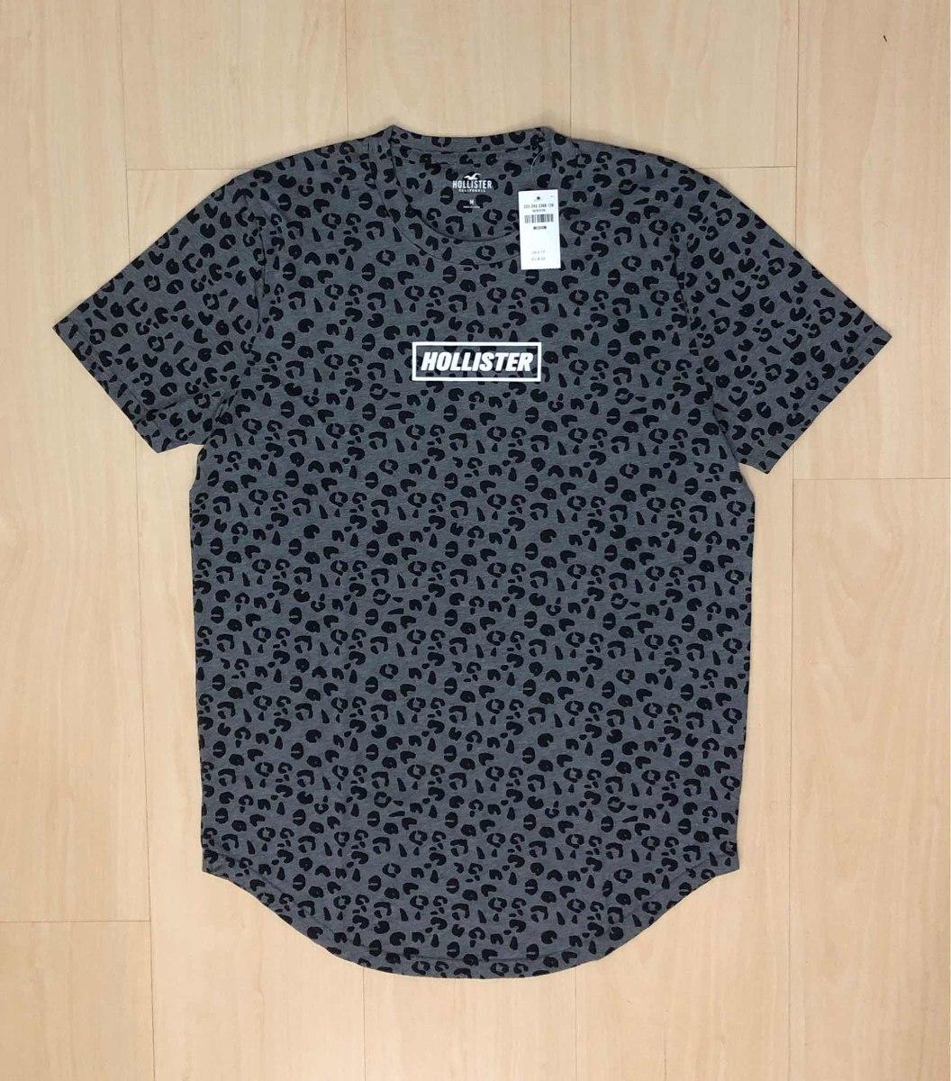 Camiseta Masculina Hollister Barra Redonda Importada Eua - R  89,00 ... b51c77a055
