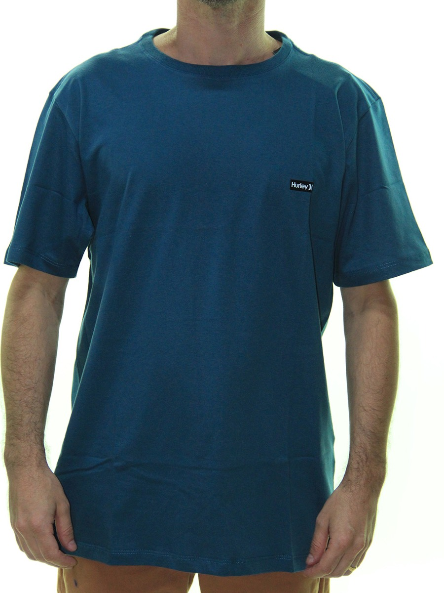 camiseta masculina hurley basic estampada manga curta - azul. Carregando  zoom. a1f4f0104ba